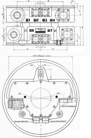 Вращающееся контактное устройство ВКУ330-4